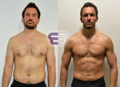 Harvey lost 15% body fat in 12 weeks